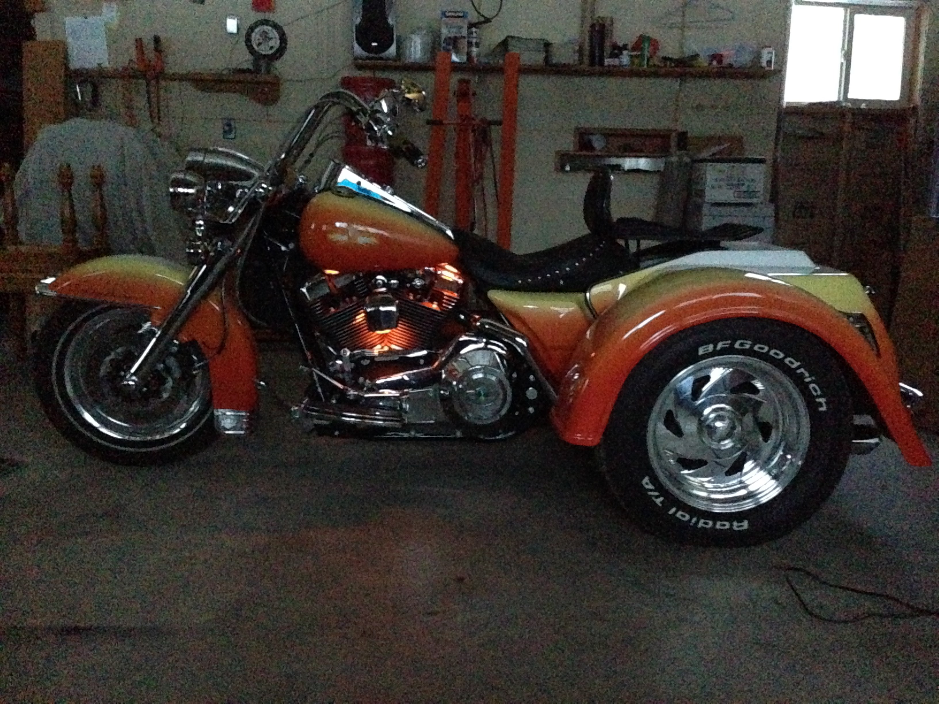 2003 Harley Davidson 174 Custom Trike Yellow Orange White