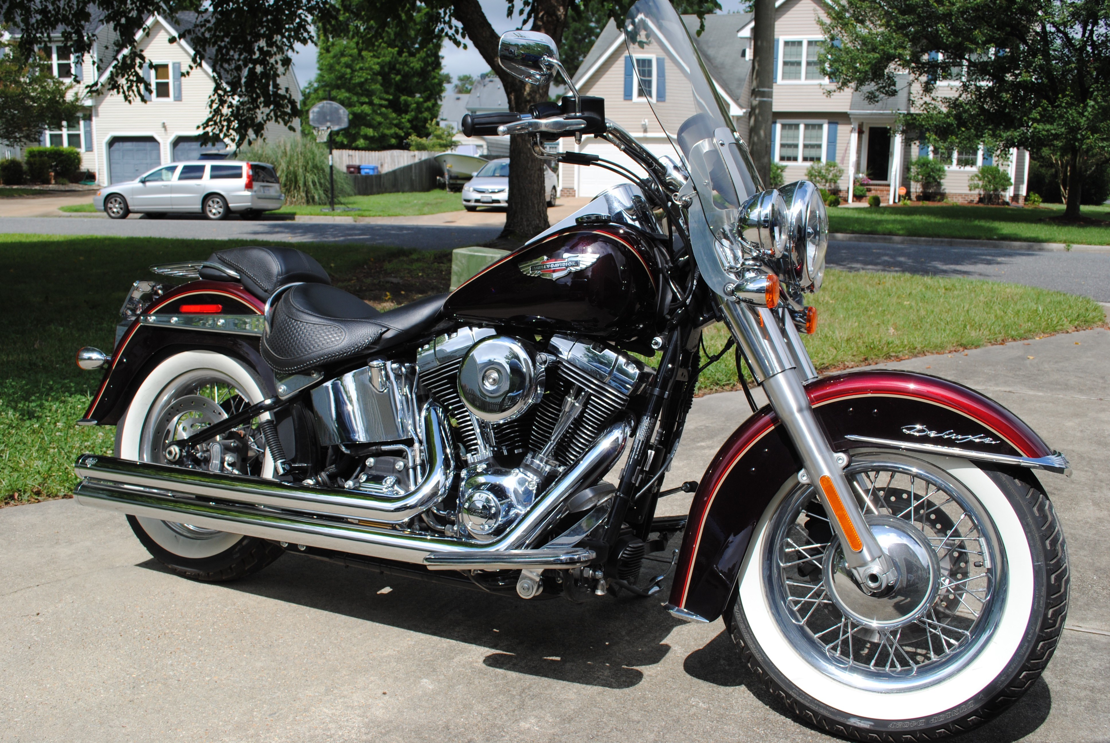 2015 harley davidson flstn softail deluxe mysterious red sunglo blackened cayenne sunglo. Black Bedroom Furniture Sets. Home Design Ideas