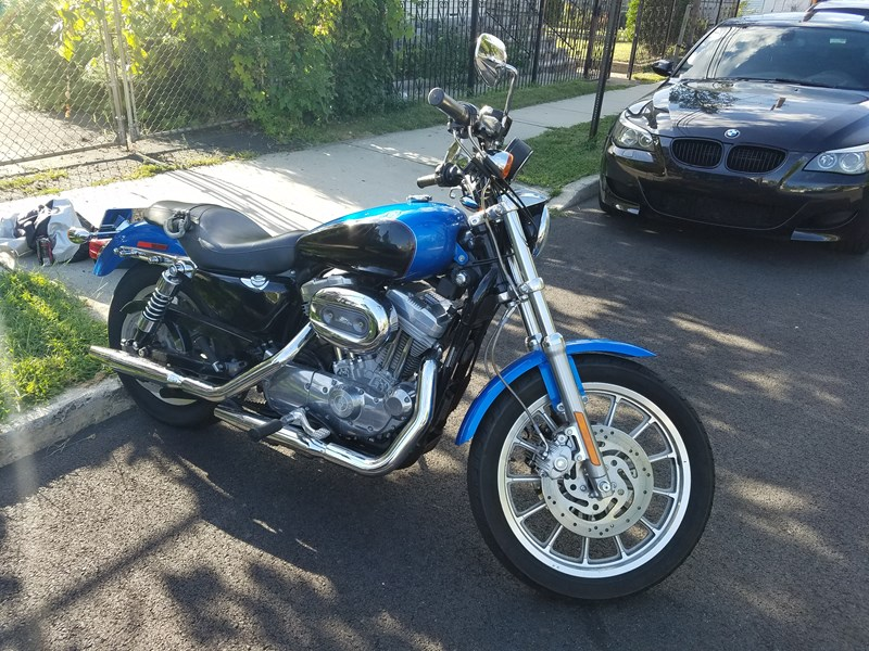 2004 harley davidson xlh 883 sportster 883 blue garfield new jersey 666833. Black Bedroom Furniture Sets. Home Design Ideas
