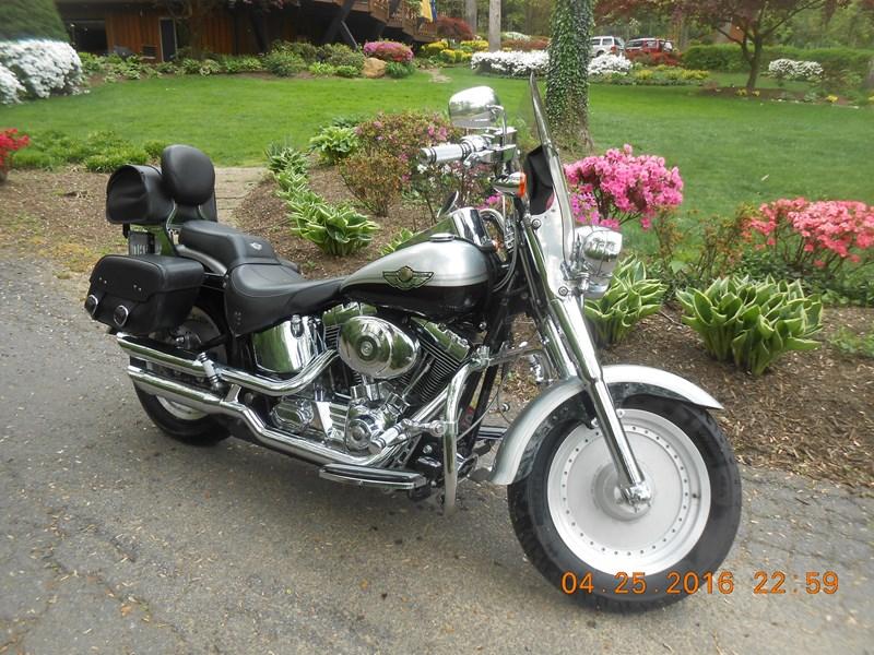Photo of a 2003 Harley-Davidson® FLSTF/I-ANV Fat Boy® Anniversary