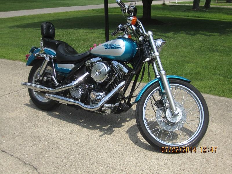 Used Tires Columbus Ohio >> 1994 Harley-Davidson® FXLR Low Rider® Custom (Aqua Pearl/ Silver), Cincinnati, Ohio (553060 ...